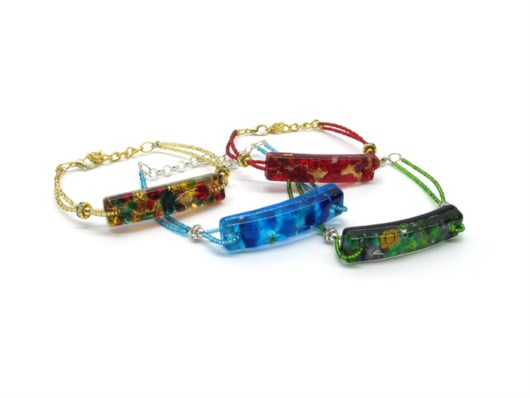 New Models - Murano Glass Bracelet -  BRPE0115 - 45x10 mm