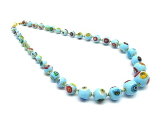 Murano Glass Necklaces - Murano glass graduated beads necklace - COLPE0302