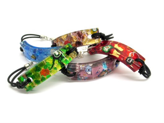 Economic Products - Murano Glass rectangular Bracelet - BRVE04 - 70x15 mm