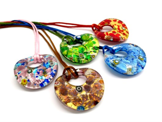 Economic Products - Murano Glass big curved round Pendants - COLV0901