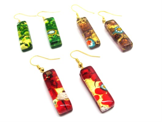Murano Glass Earrings - glass earrings from venice italy - OREL04 - 30x10 mm