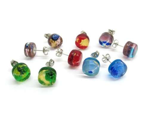 Murano Glass Earrings - Murano Glass Earrings - ORET01 - 10 mm