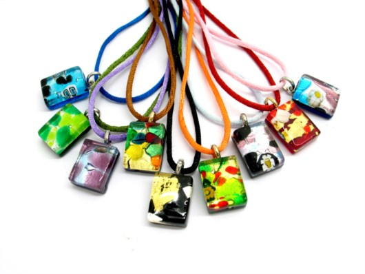 Economic Products - Murano Glass rectangle Pendants - PEMG01 - 20x15 mm
