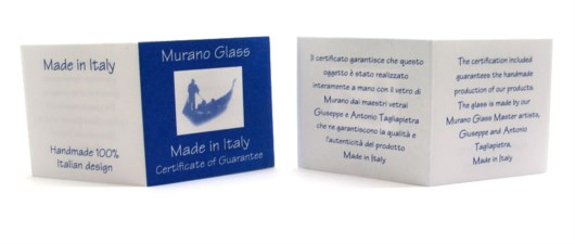 Box - Pakaging  - Murano Glass Certificate - Made in Italy