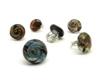 Murano Glass Rings - Murano ring fantasy - AV0109-TONDO - round shape