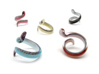 Murano Glass Rings - Two-Tone Rings Murano Glass - AV0104 - snake shape