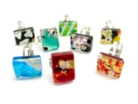 Murano Glass Rings - rectangular Rings IN Murano Glass - PEMG06 - 20X15 MM