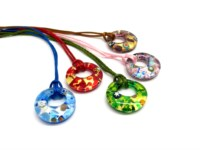 Italian wholesale murano glass pendants - murano glass pendants suppliers - murano glass pendants manufacturers - Murano Glass round Pendants - COLV0902 - 30 mm in diameter