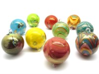 Murano Glass Objects - Murano Glass Christmas balls - OGV1