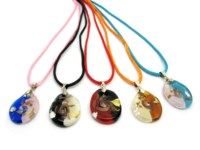 Italian wholesale murano glass pendants - murano glass pendants suppliers - murano glass pendants manufacturers - Murano Glass Pendant - oval shape - COLC0103 - 30x22 mm