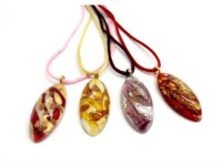 Italian wholesale murano glass pendants - murano glass pendants suppliers - murano glass pendants manufacturers - Murano Pendant oval shape long - COLV0209 - 50X22 MM